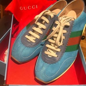 Brand new gucci rocket suede sneakers! 100% authen
